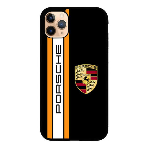 Porsche Stripe Logo Z4839 iPhone 11 Pro coque
