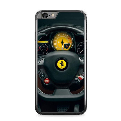 Red Ferrari logo Z4552 iPhone 6 Plus, 6S Plus coque
