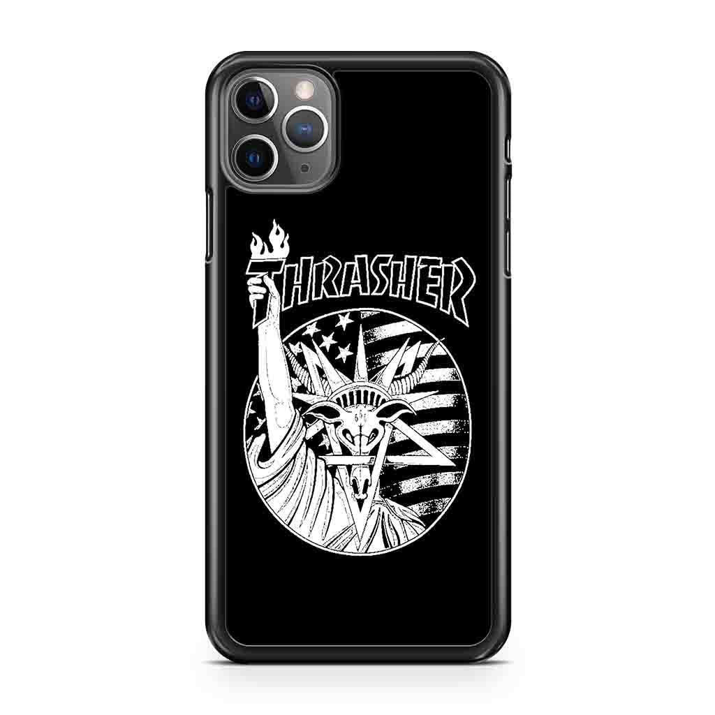 coque custodia cover case fundas hoesjes iphone 11 pro max 5 6 6s 7 8 plus x xs xr se2020 pas cher p8265 Thrasher Liberty Goat Iphone Case
