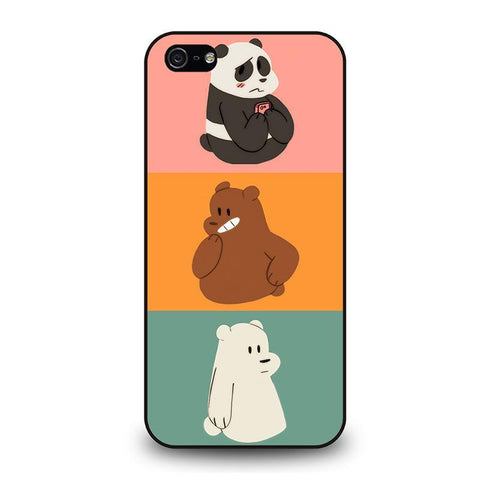 WE BARE BEARS 2 iPhone 5 / 5S / SE coque Cover,coque iphone 5 etui coque iphone 5 paillette liquide,WE BARE BEARS 2 iPhone 5 / 5S / SE coque Cover