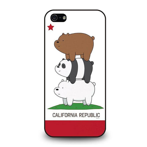 WE BARE BEARS CALIFORNIA REPUBLIC iPhone 5 / 5S / SE coque Cover,coque iphone 5 revolver coque iphone 5 lacroix,WE BARE BEARS CALIFORNIA REPUBLIC iPhone 5 / 5S / SE coque Cover