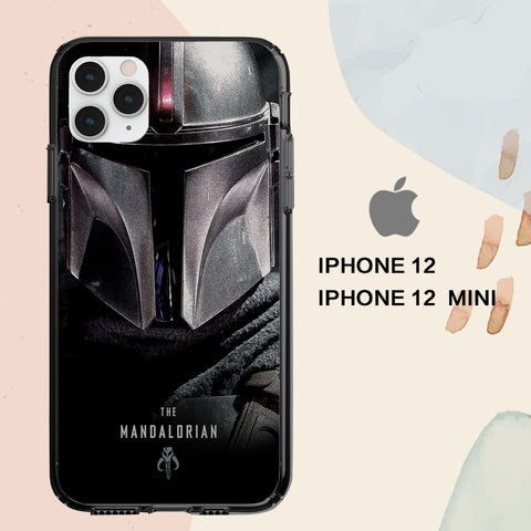 coque iPhone 12 mini pro max case B2263 mandalorian wallpaper 205qK8