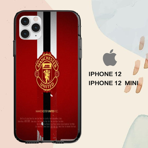 coque iPhone 12 mini pro max case C0103 Manchester United Wallpaper 203xL6