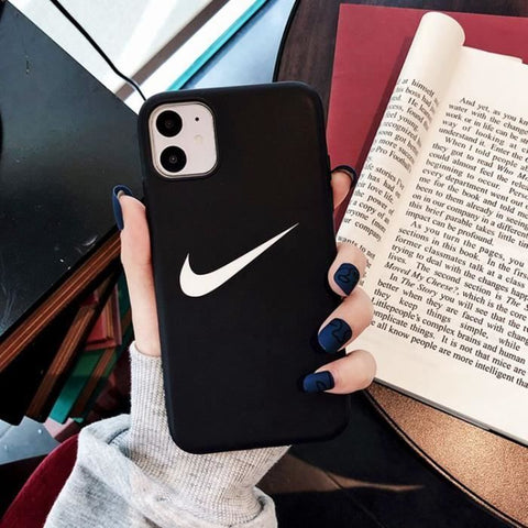 Coque iPhone 11OFF White Nike Noir Ultra Slim AntiChoc Souple Silicone  Coque Compatible iPhone 11