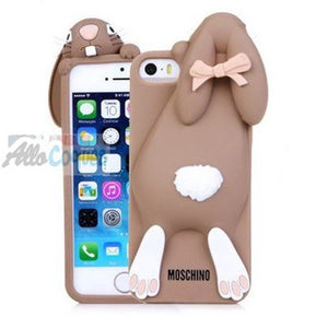 coque iphone 4 lapin silicone