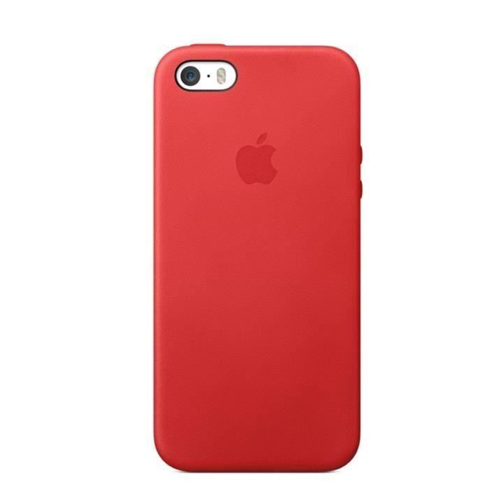 coque iphone 5 cuir rouge