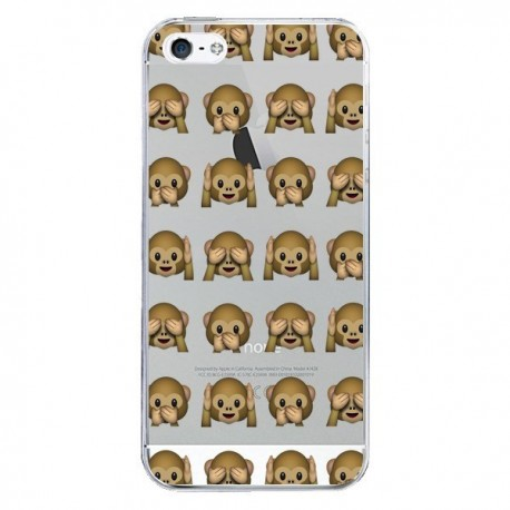 coque iphone 5 emoji singe