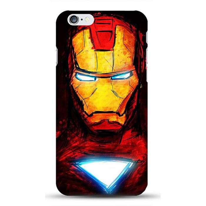 coque iphone 5 portefeuille iron man