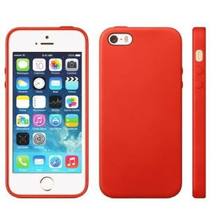 coque iphone 5 rouge silicone