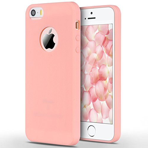 coque iphone 5 siliconne rose mat