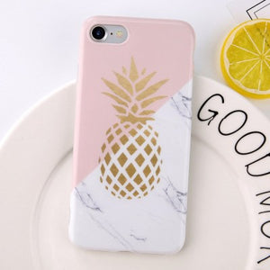 coque iphone 6 ananas marbre