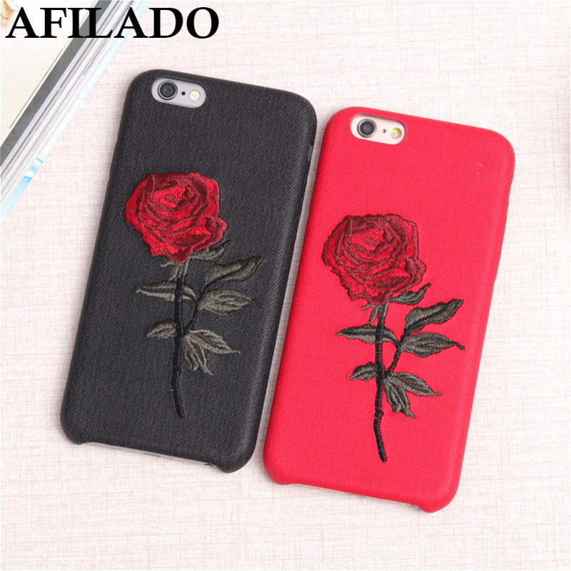 coque iphone 6 broderie rose