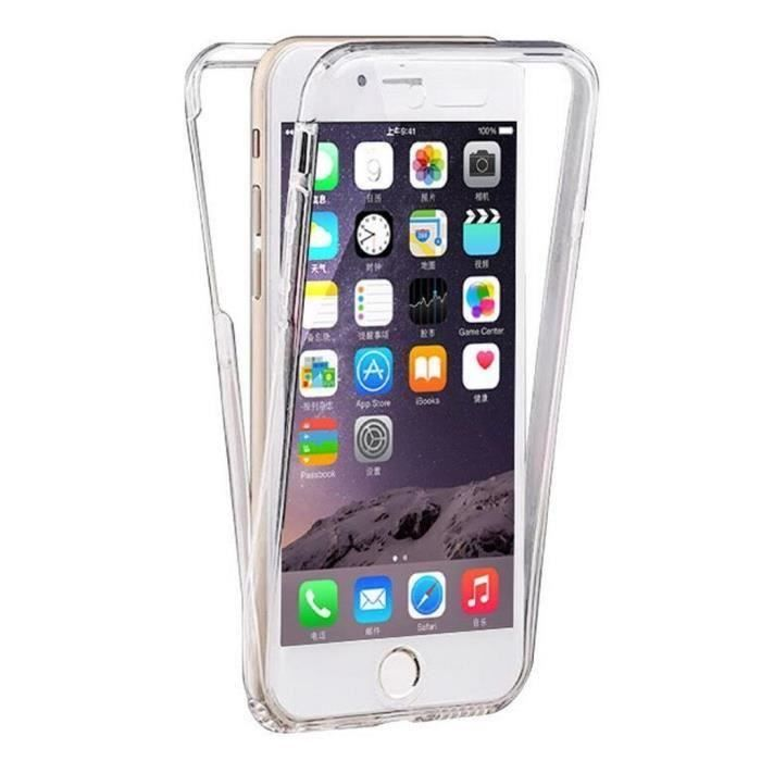 coque iphone 6 devant derriere bleu