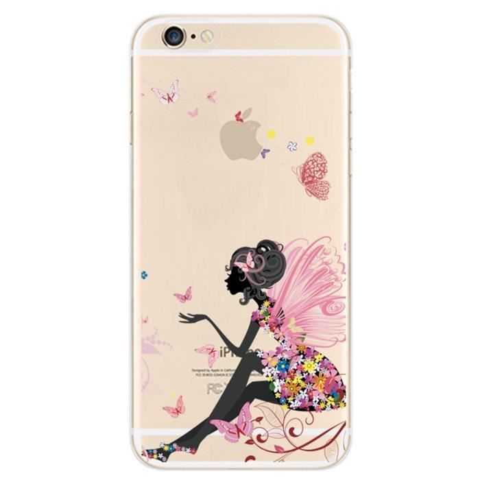 coque iphone 6 fille papillon