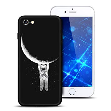 coque iphone 7 noir silicone motif