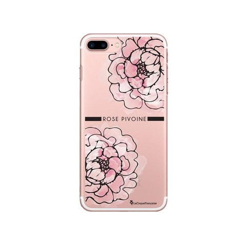 coque iphone 7 pivoine