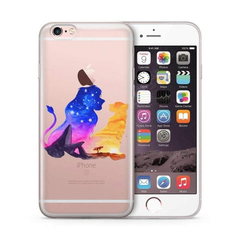 coque iphone 7 plus le roi lion silicone