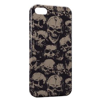 coque iphone 7 tete de mort or