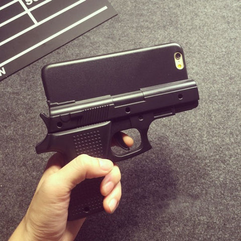 coque iphone 8 en forme de pistolet