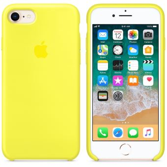 coque iphone 8 jaune apple