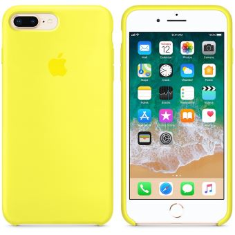 coque iphone 8 plus silicone apple jaune