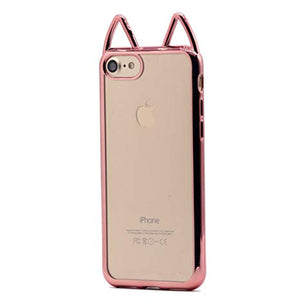 coque iphone 8 rose transparente