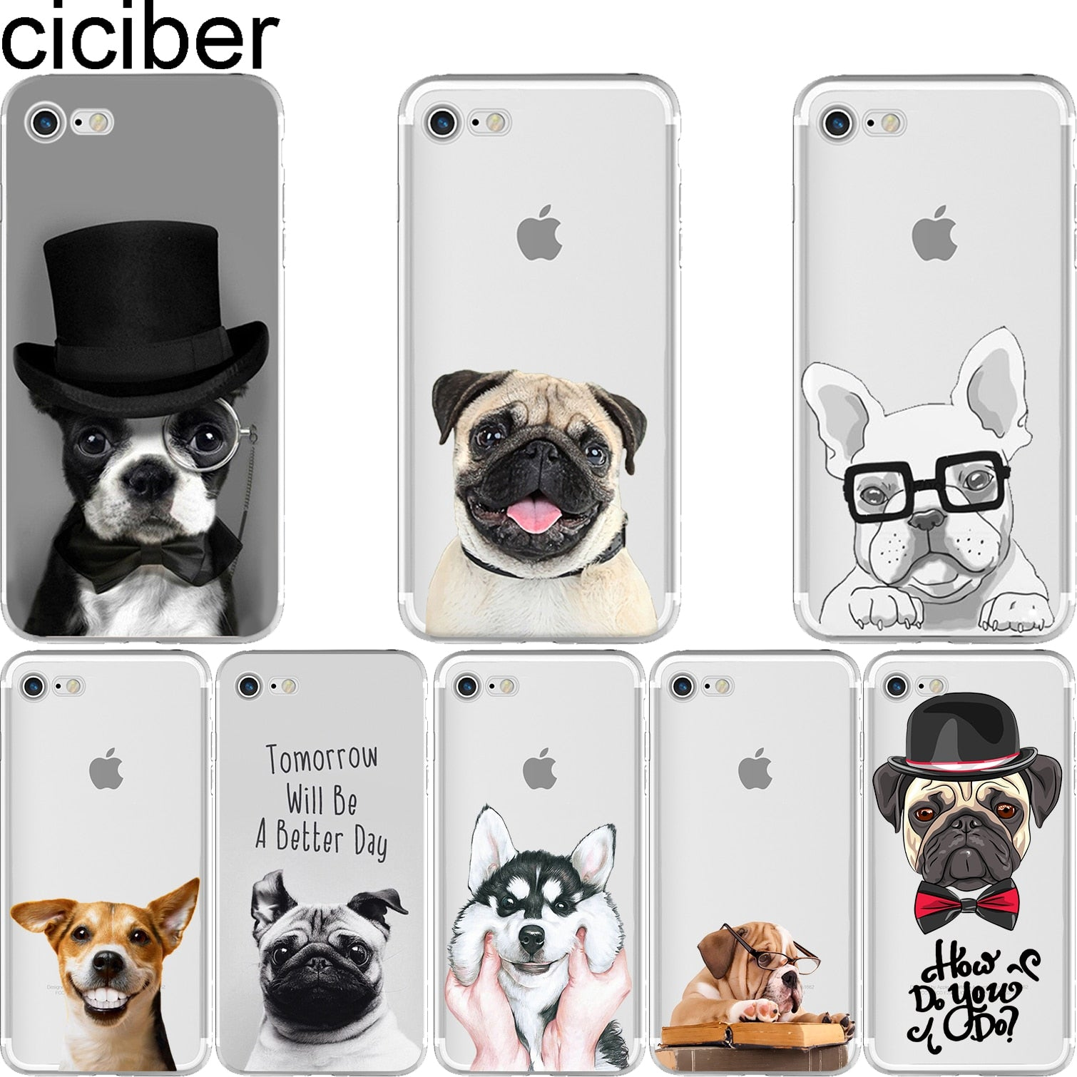 coque pug iphone 6