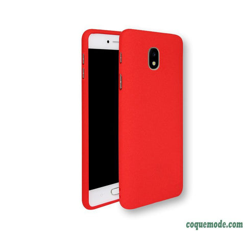 coque rouge mat samsung galaxy j3 2017