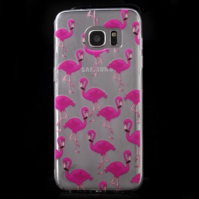 coque s7 samsung flamant rose