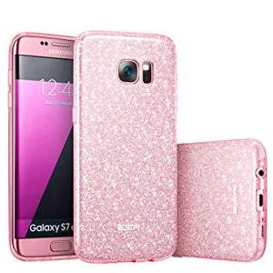 coque samsung galaxy s7 edge rose brillante