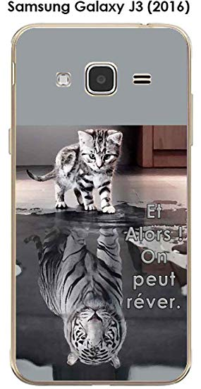 coque samsung j3 2016 chat tigre