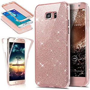 coque samsung s6 edge glitter rose