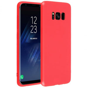 coque silicone rouge samsung s8