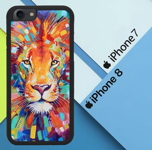 Abstract Lion X5731 coque iPhone 7 , iPhone 8