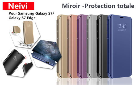 neivi coque samsung galaxy s7 edge transparent miroir