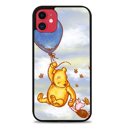Coque iphone 5 6 7 8 plus x xs xr 11 pro max Vintage Winnie The Pooh Balloon Y0726