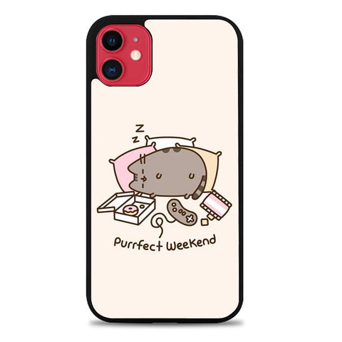 pusheen cat Z4603 iPhone 11 coque