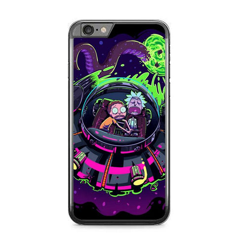 rick and morty Z4121 iPhone 6 Plus, 6S Plus coque
