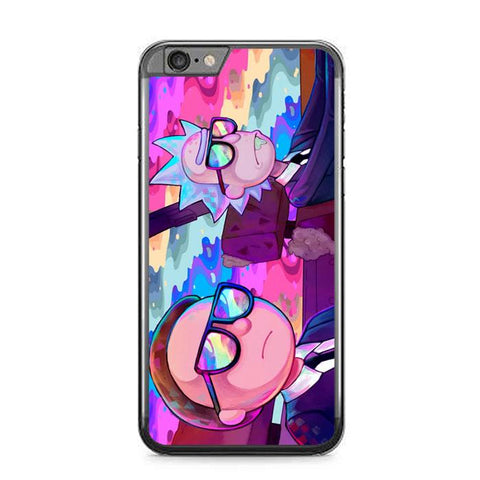 rick and morty paint art Z4122 iPhone 6 Plus, 6S Plus coque