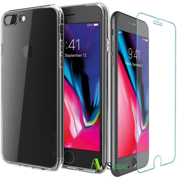 verre trempe iphone 8 plus coque