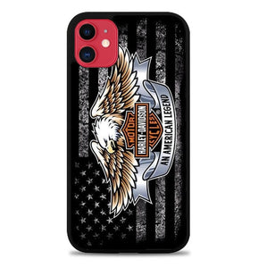 Coque iphone 5 6 7 8 plus x xs xr 11 pro max Harley Davidson America Flag P0224