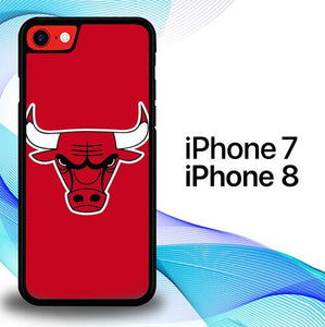Chicago Bulls Red Logo P1161 coque iPhone 7 , iPhone 8