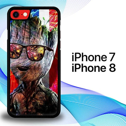 Groot American Flag P1577 coque iPhone 7 , iPhone 8