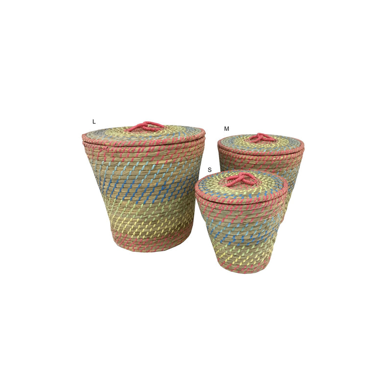 TAMBA - KOMME DECO BASKET WITH LID