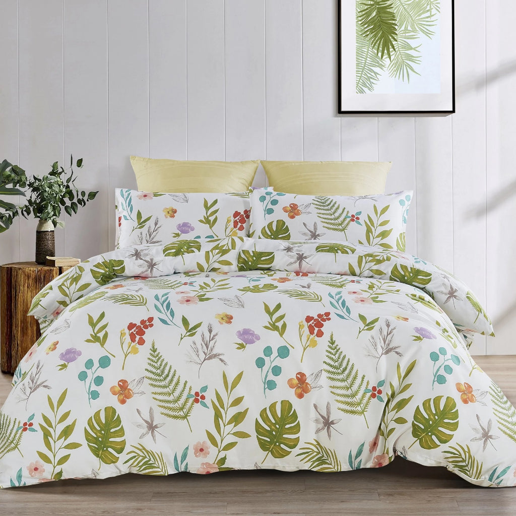 BOTANIA - CONTEMPO ATELIER FITTED SHEET SET 300TC 80% TENCEL™ 20% COTTON