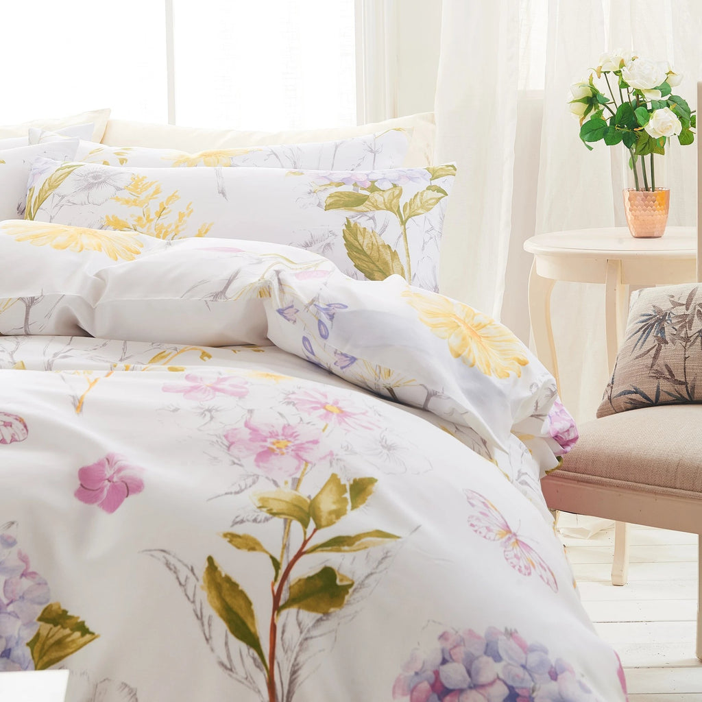 JARDINE - CONTEMPO ATELIER QUILT COVER SET 300TC 80% TENCEL™ 20% COTTON