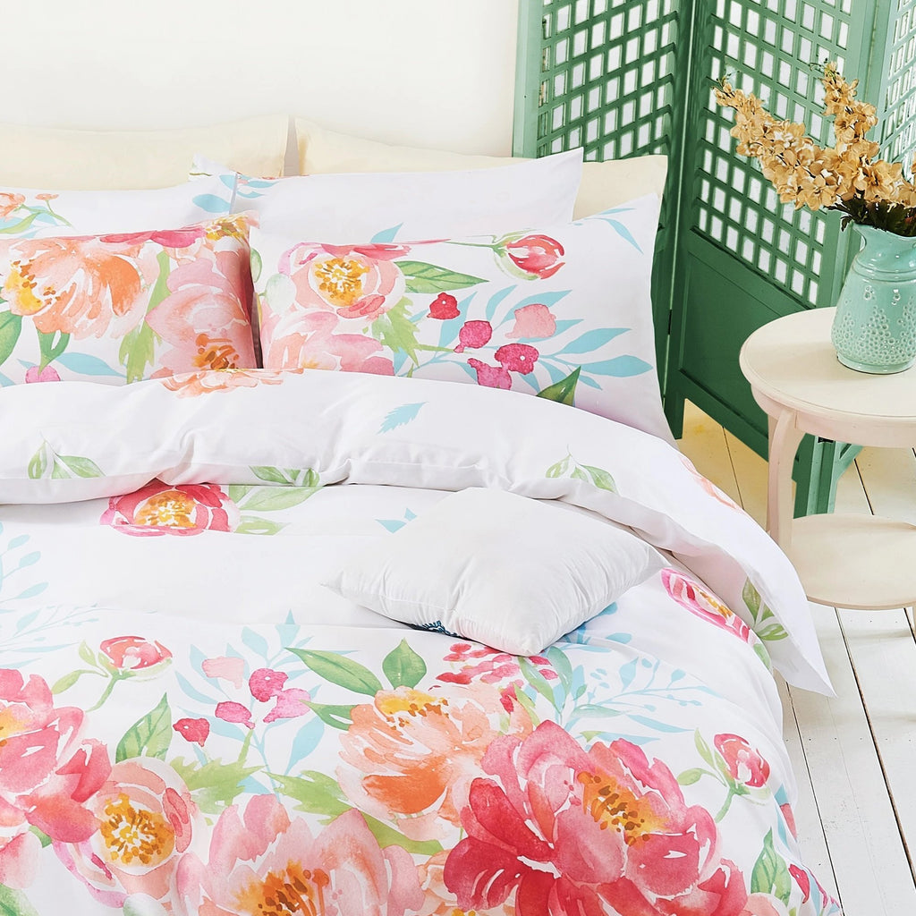 FLORETTE - CONTEMPO ATELIER QUILT COVER SET 300TC 80% TENCEL™ 20% COTTON