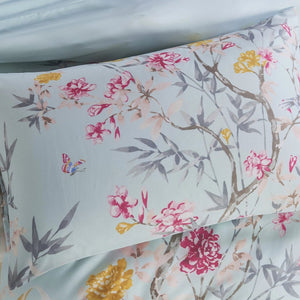 CHINOISERIE - CONTEMPO ATELIER FITTED SHEET SET 300TC 80% TENCEL™ 20% COTTON