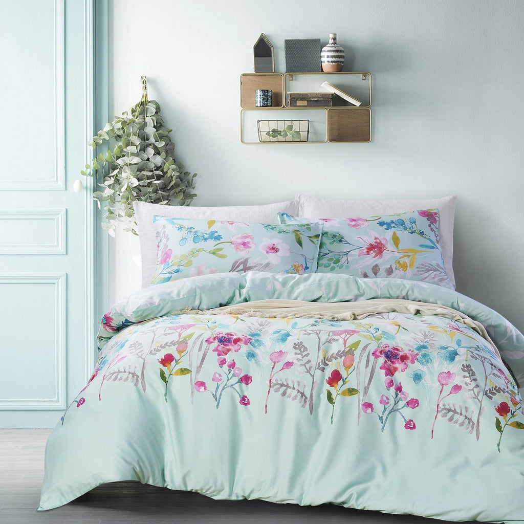 GARDNER - CONTEMPO ATELIER QUILT COVER SET 300TC 80% TENCEL™ 20% COTTON