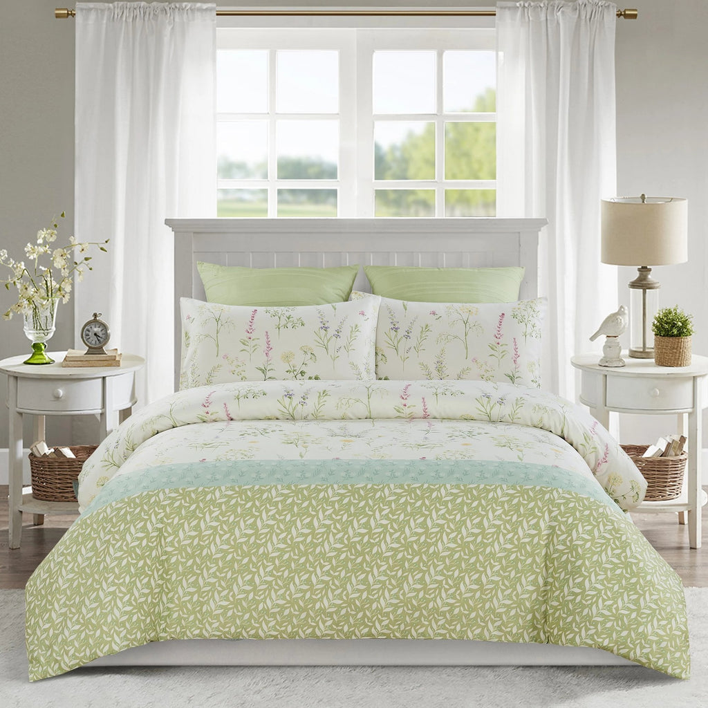 HERBIE - CONTEMPO ATELIER QUILT COVER SET 300TC 80% TENCEL™ 20% COTTON